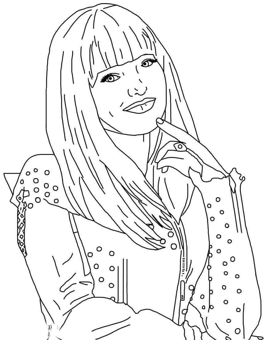 Descendants Coloring Pages Mal From Descendants Coloring Pages Free Printable Descendants 2 Entitlementtrap Com Descendants Coloring Pages Disney Coloring Pages Coloring Pages