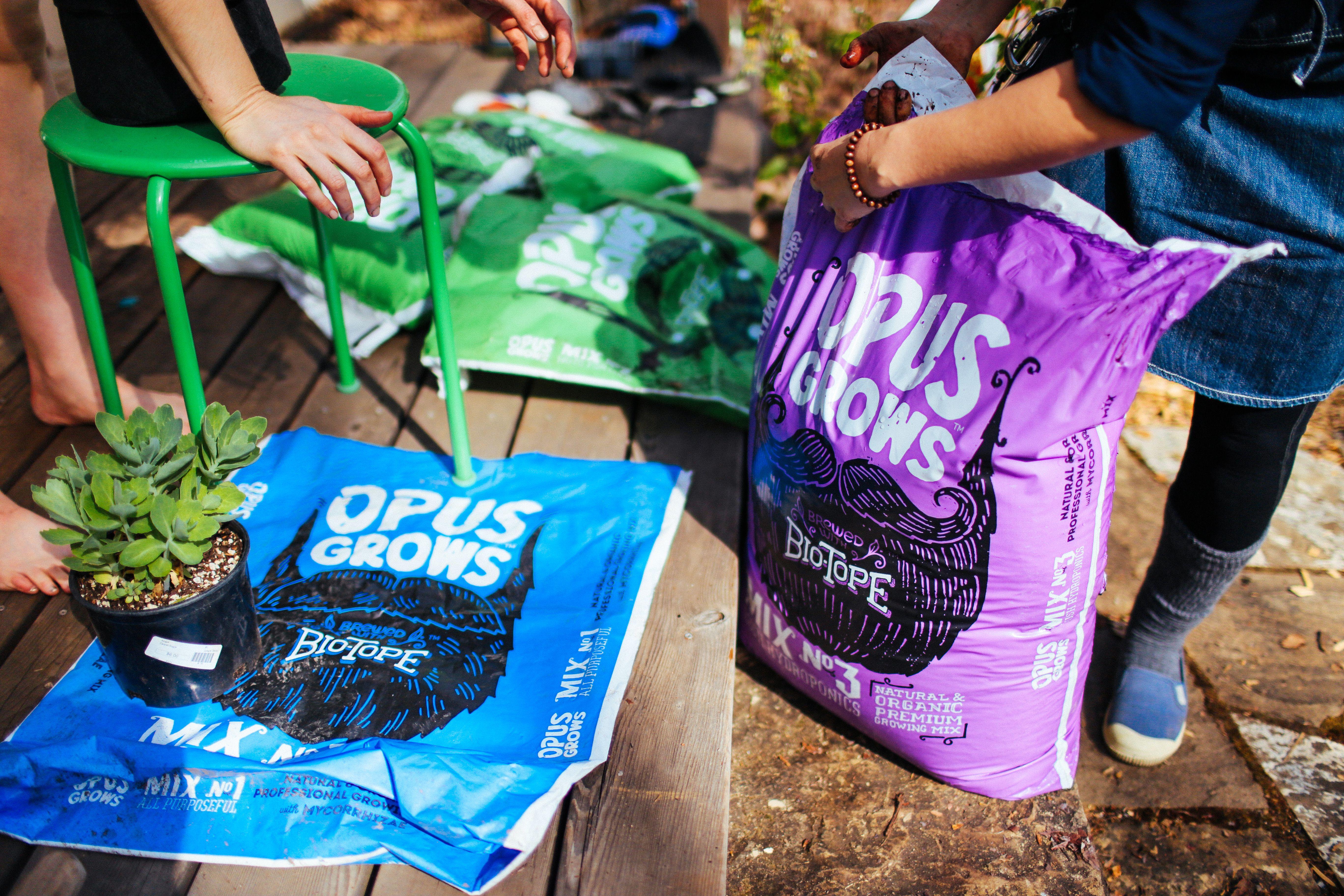 Grown using opus grows premium organic potting soils