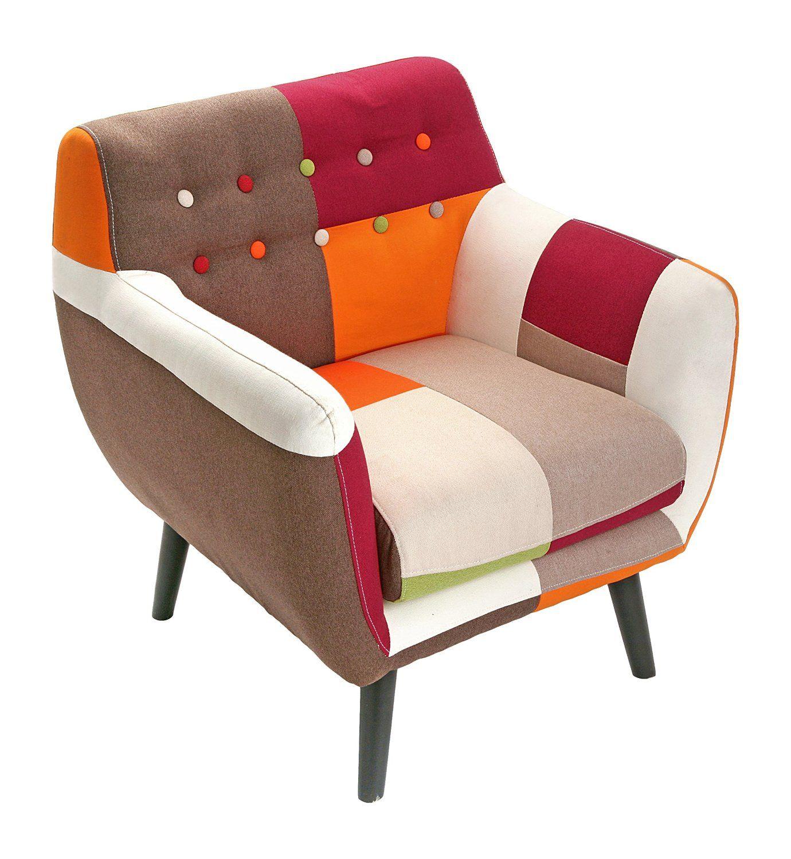 versa fauteuil patchwork scandinave vintage cuisine maison deco interieure. Black Bedroom Furniture Sets. Home Design Ideas