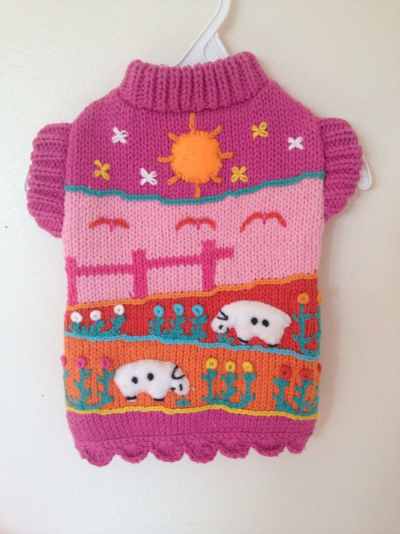 Adorable handmade XS dog sweater 100% cotton by thespecialdetails