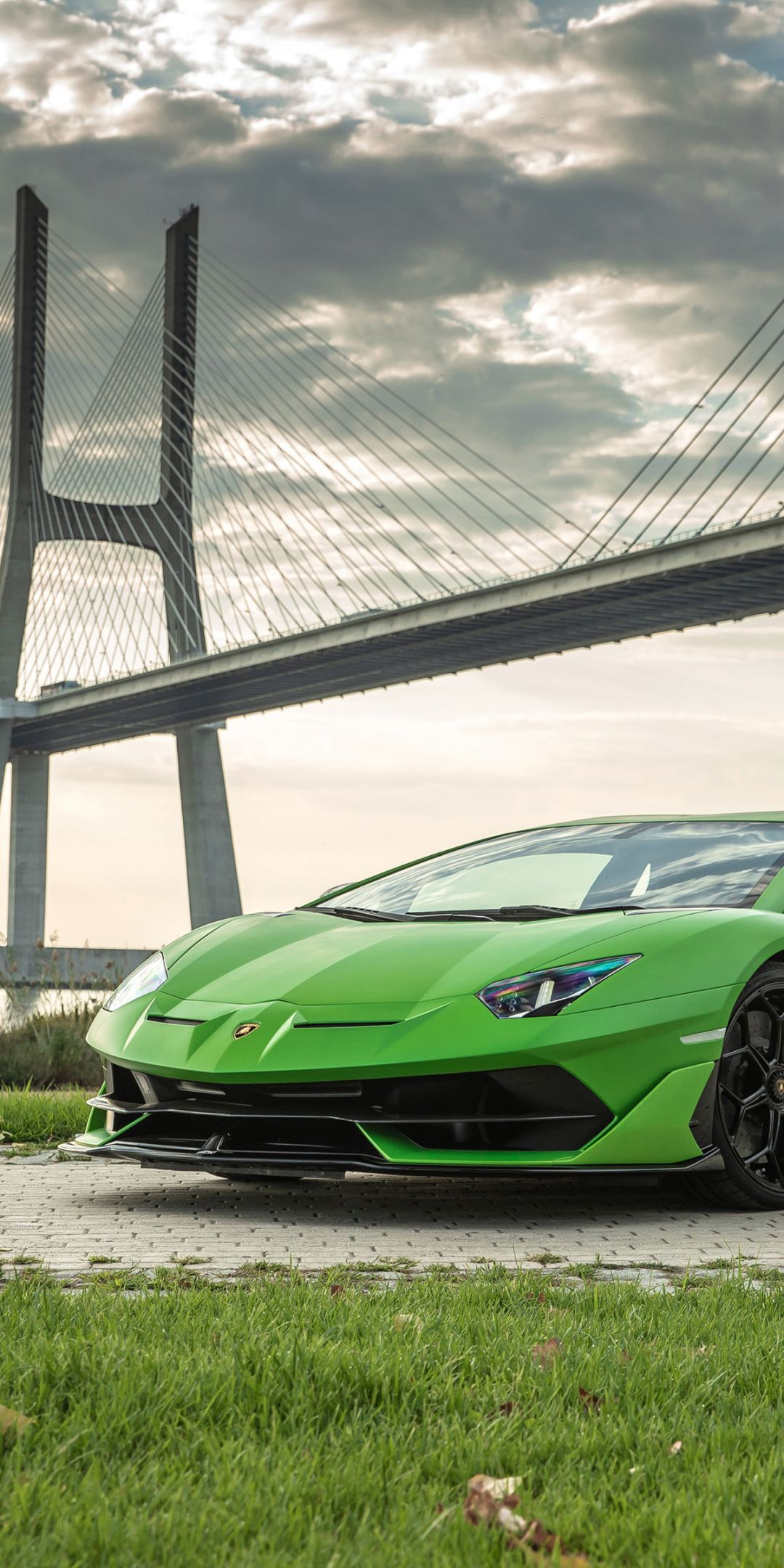 Green Sports Car Lamborghini Aventador Svj 1080x2160 Wallpaper Lamborghini Aventador Sports Cars Lamborghini Sports Car