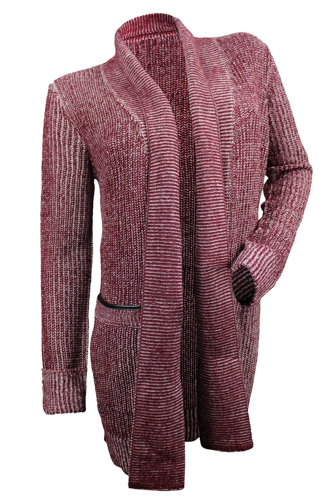 fb16a37d64b Romeo   Juliet Couture Women s Oxblood Ivory Marled Cardigan