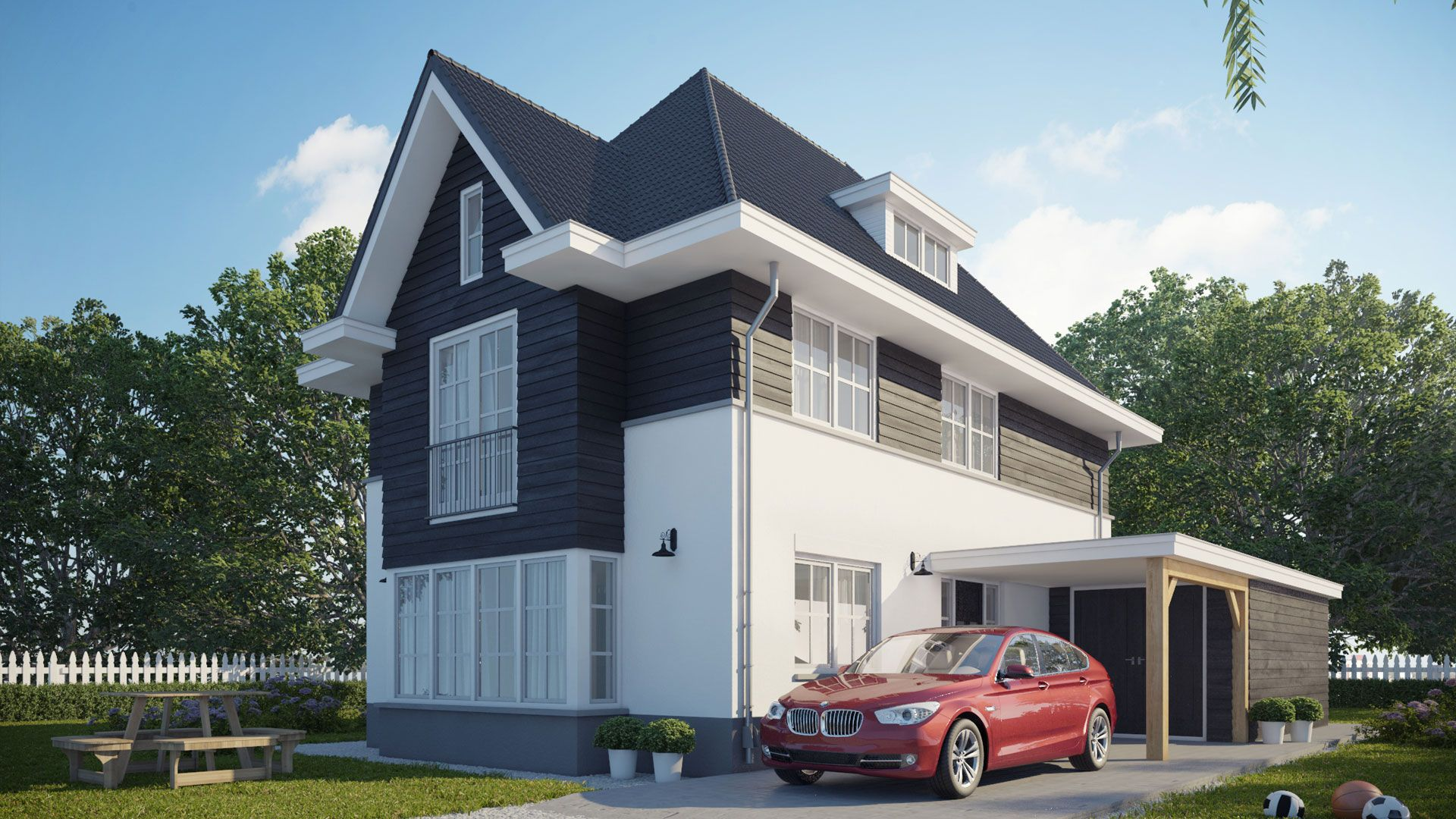 Jaren 30 woning buitenhuis villabouw buitenhuis for Moderne villabouw