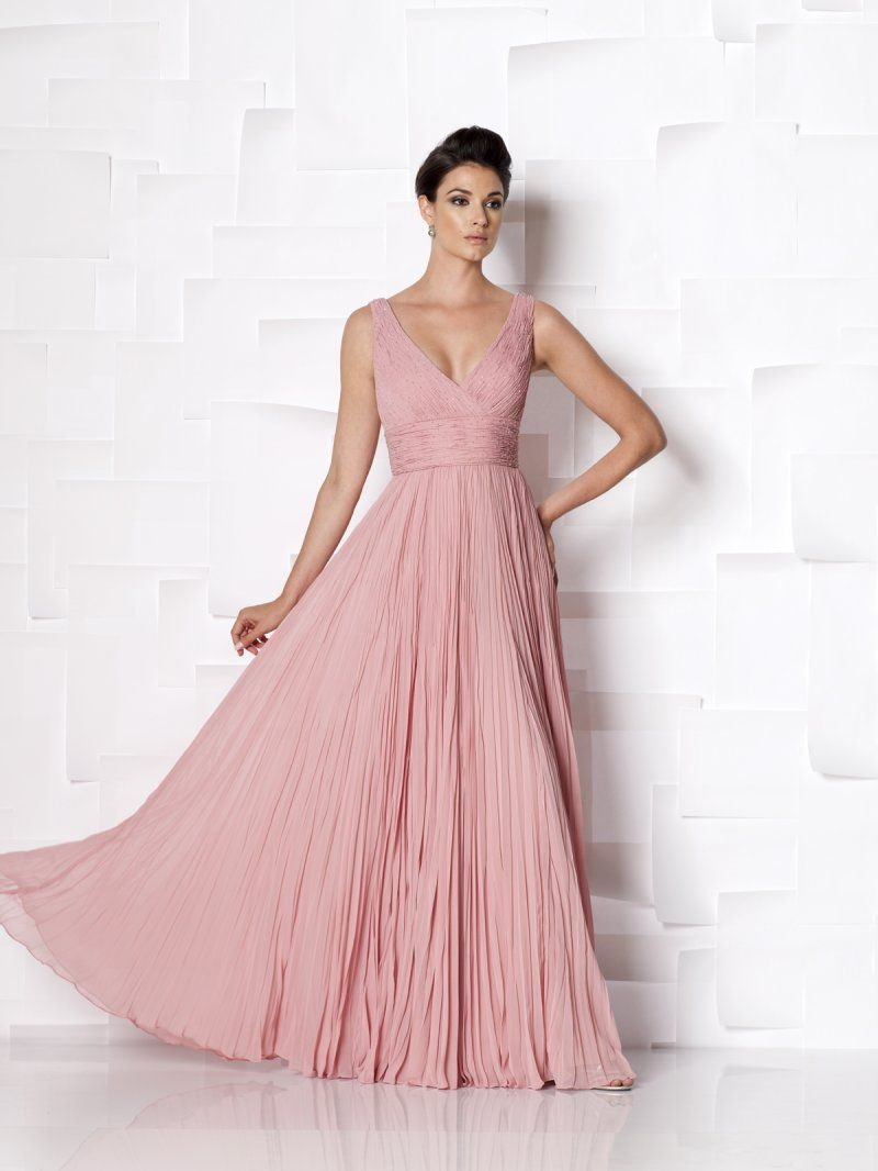 V Neck Court Train Chiffon Princess Mother Of The Bride Dress With ...