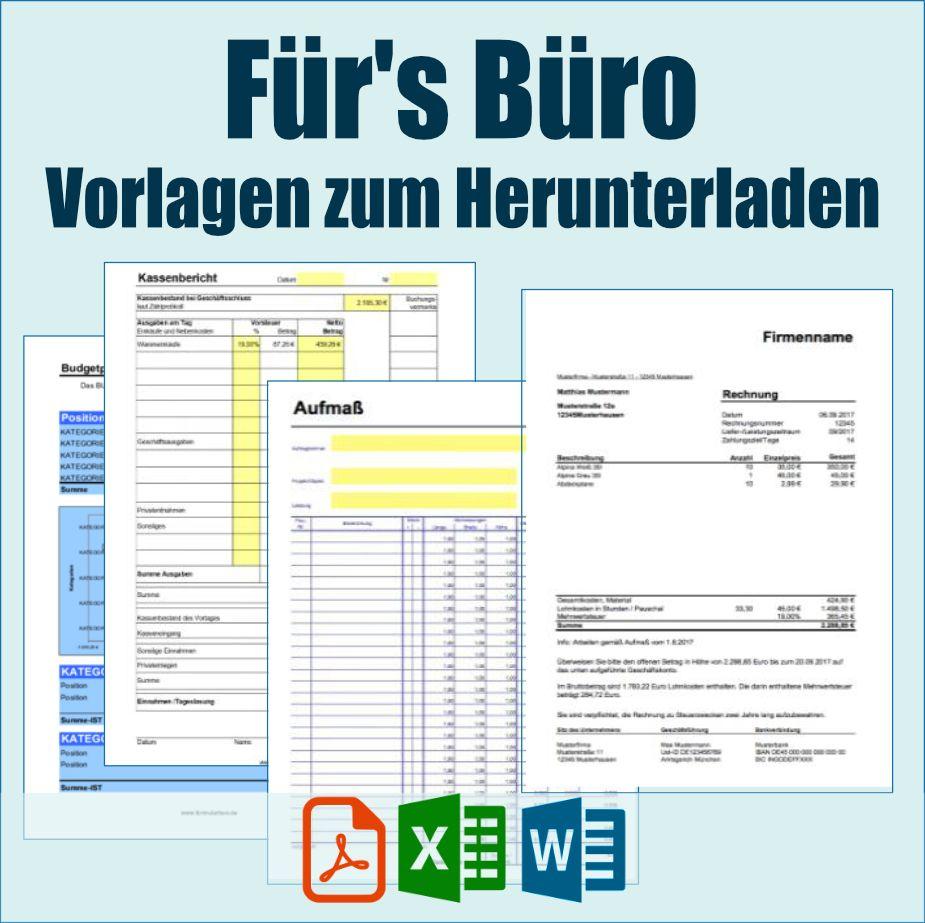 Vorlagen Fur S Buro Zum Herunterladen In 2020 Vorlagen Kassenbuch Buchfuhrung