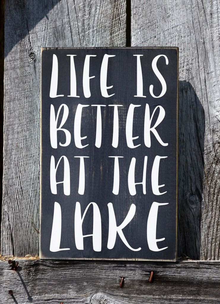 Wood Signs Home Decor Interesting Lake House Decor Lake Sign Life Is Better At The Lake Quote Review