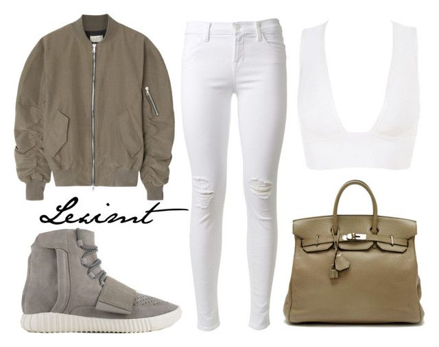 Untitled #421 by leximt on Polyvore featuring polyvore, fashion, style, Fear of God, J Brand, adidas Originals, Hermès and clothing