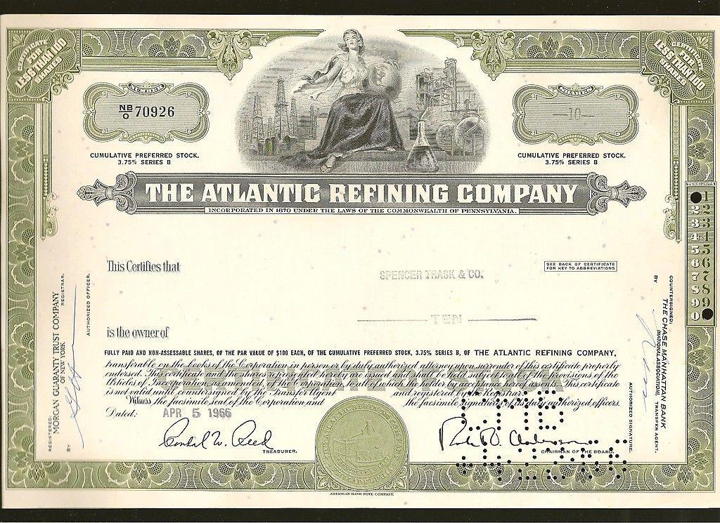 95 best Original Stock Certificates images on Pinterest Bond - blank share certificates