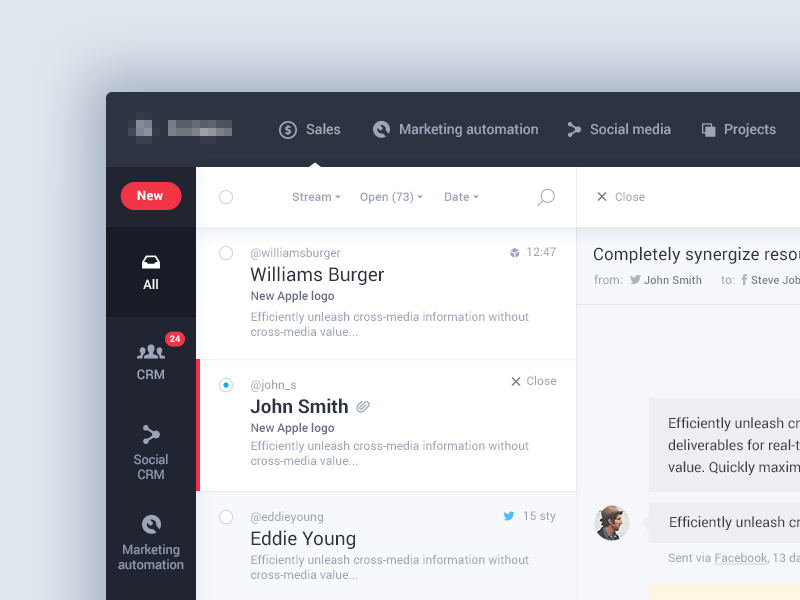 Weekly Inspiration For Designers 22 Crm Web Design Crm System
