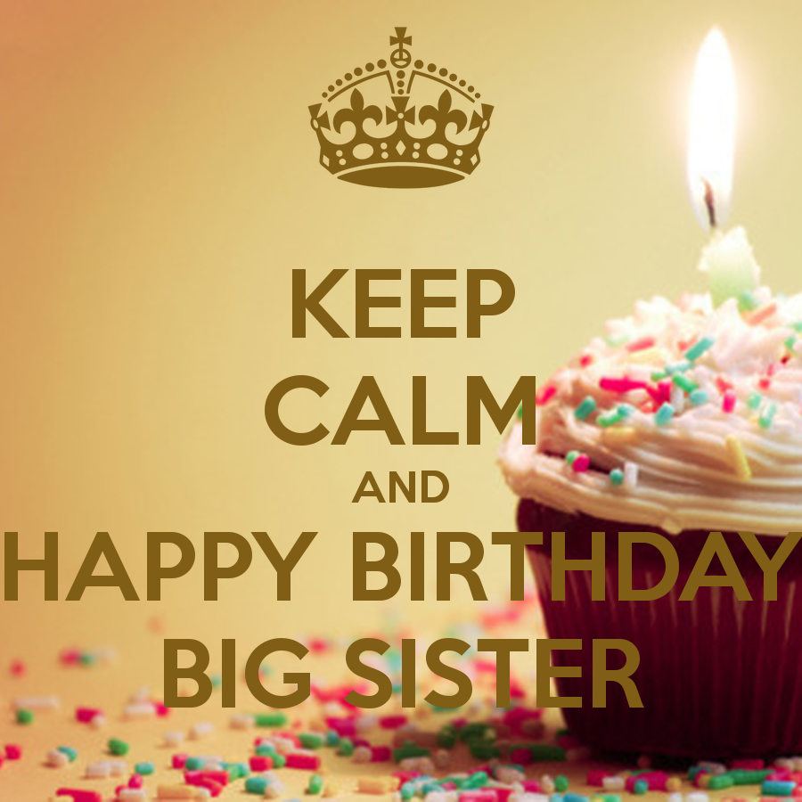 Keep Calm And Happy Birthday Big Sister 2 Png 900 900 Birthday Happy Birthday Wishes To Big