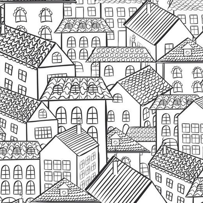 huizen kleurplaten printen
