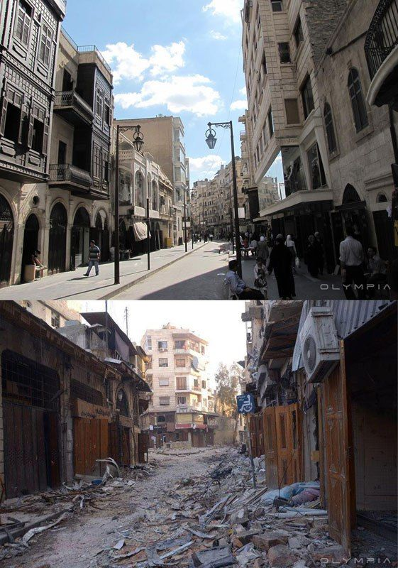 A Syrian Restaurant Is Posting Before And After Photos Of Aleppo