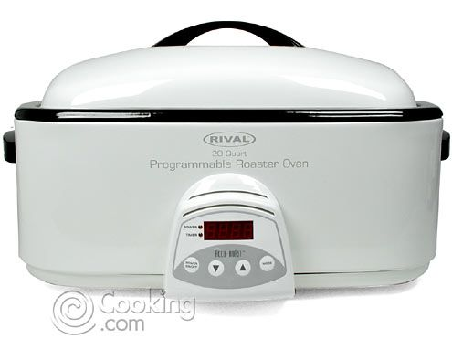 I've cooked my turkeys and soups in here when camping.  Programmable Roaster Oven with Lid (20-qt.) by Rival