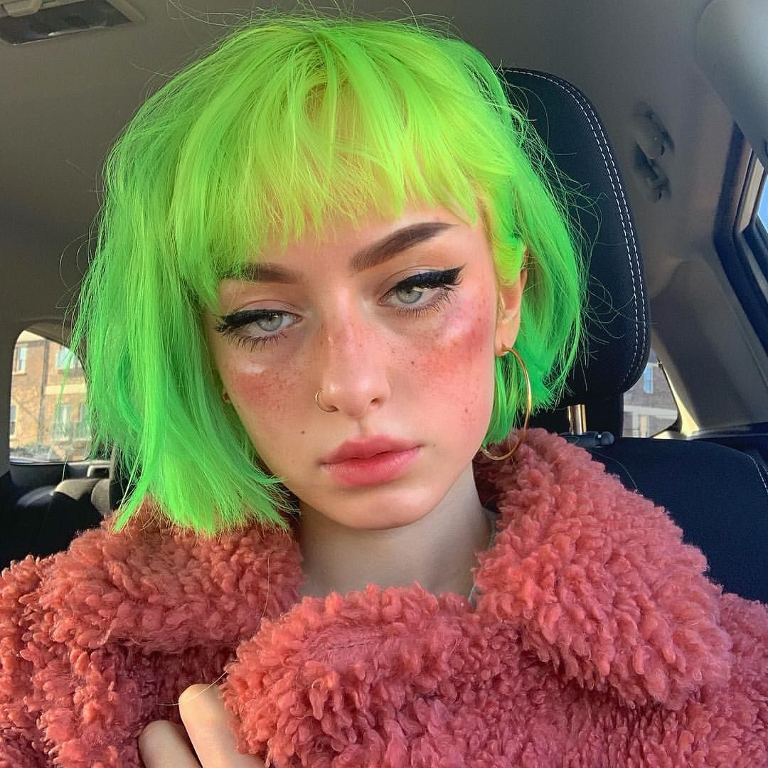 Green Hair Aesthetic Hair Hair Inspo Color