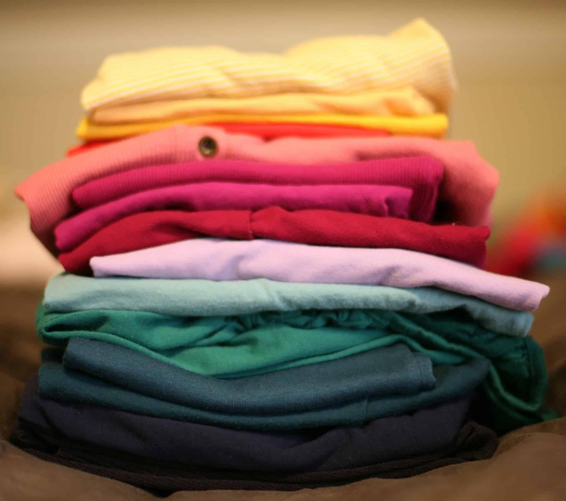 A Catholic Alternative to Konmari Folding clothes