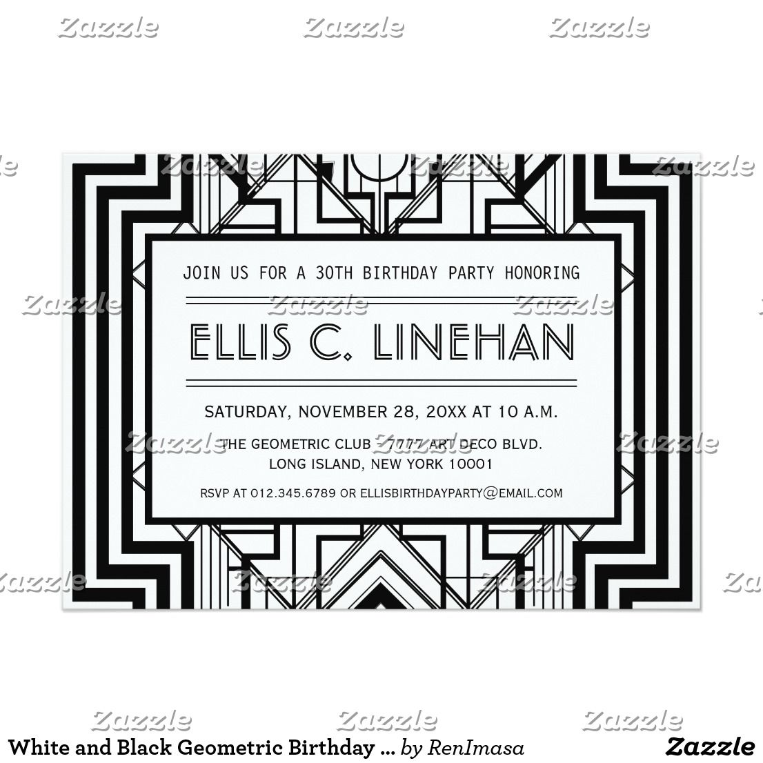 All White Birthday Party Invitations office holiday card message