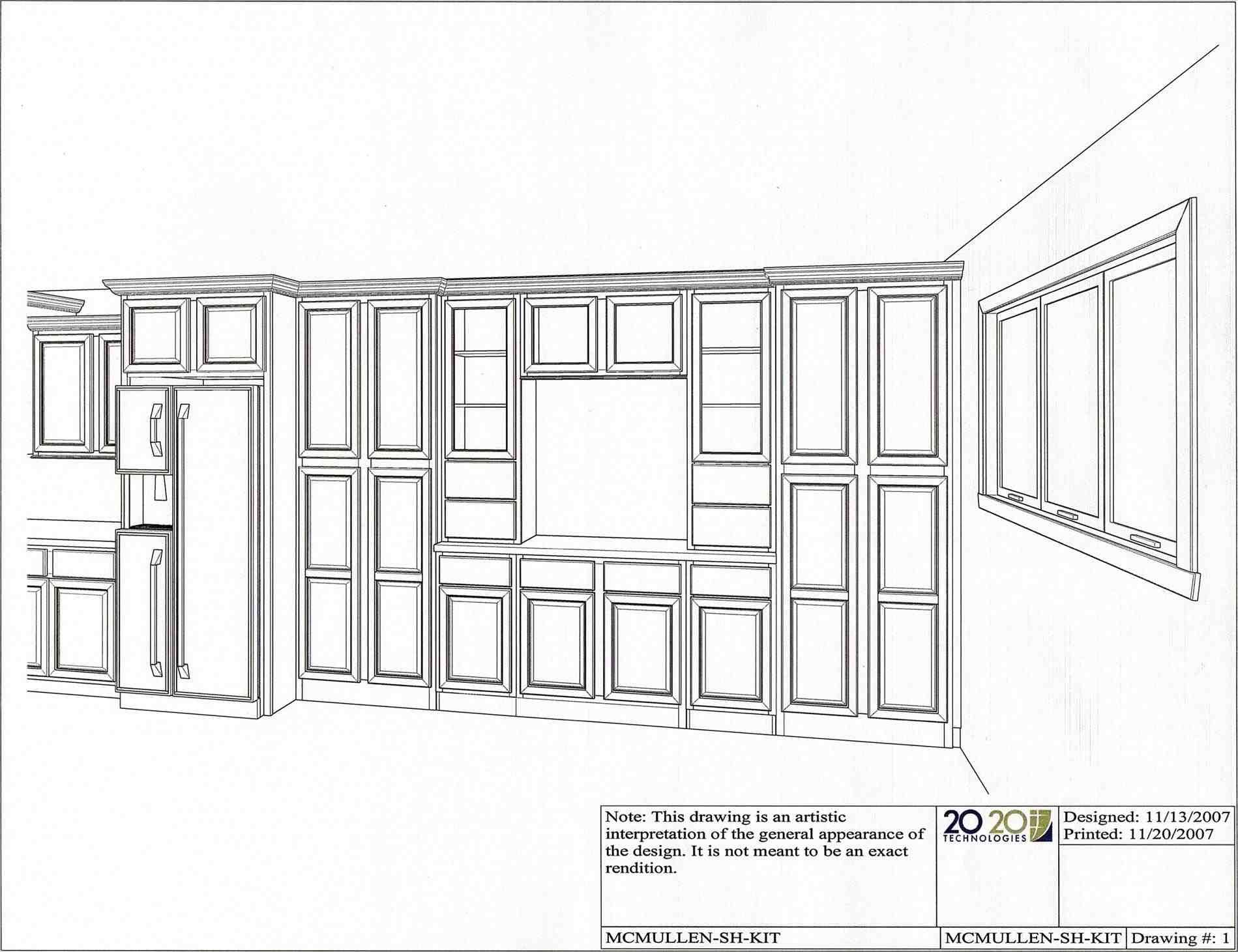 New Post Kitchen Cabinet Design Drawing