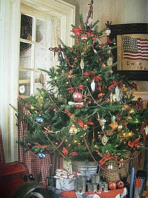 Such a lovely Country Christmas Tree Christmas Pinterest