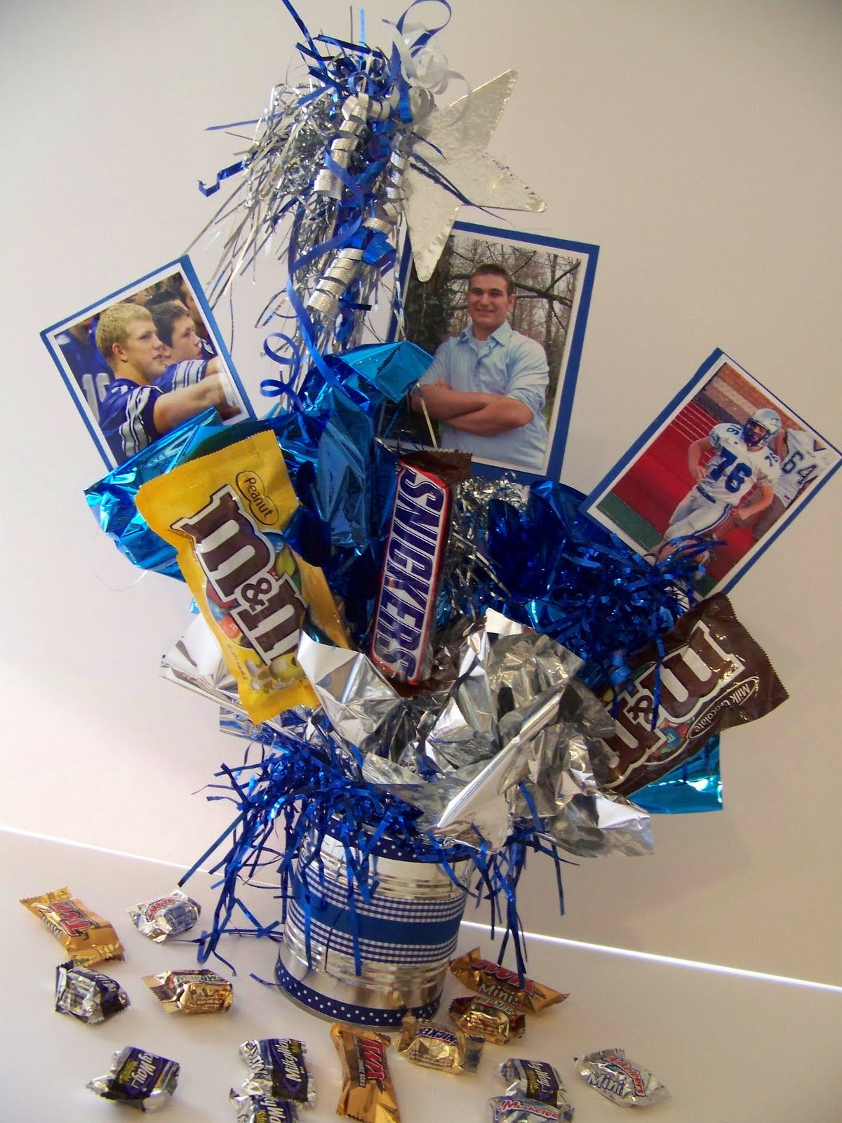 High school graduation centerpieces used different