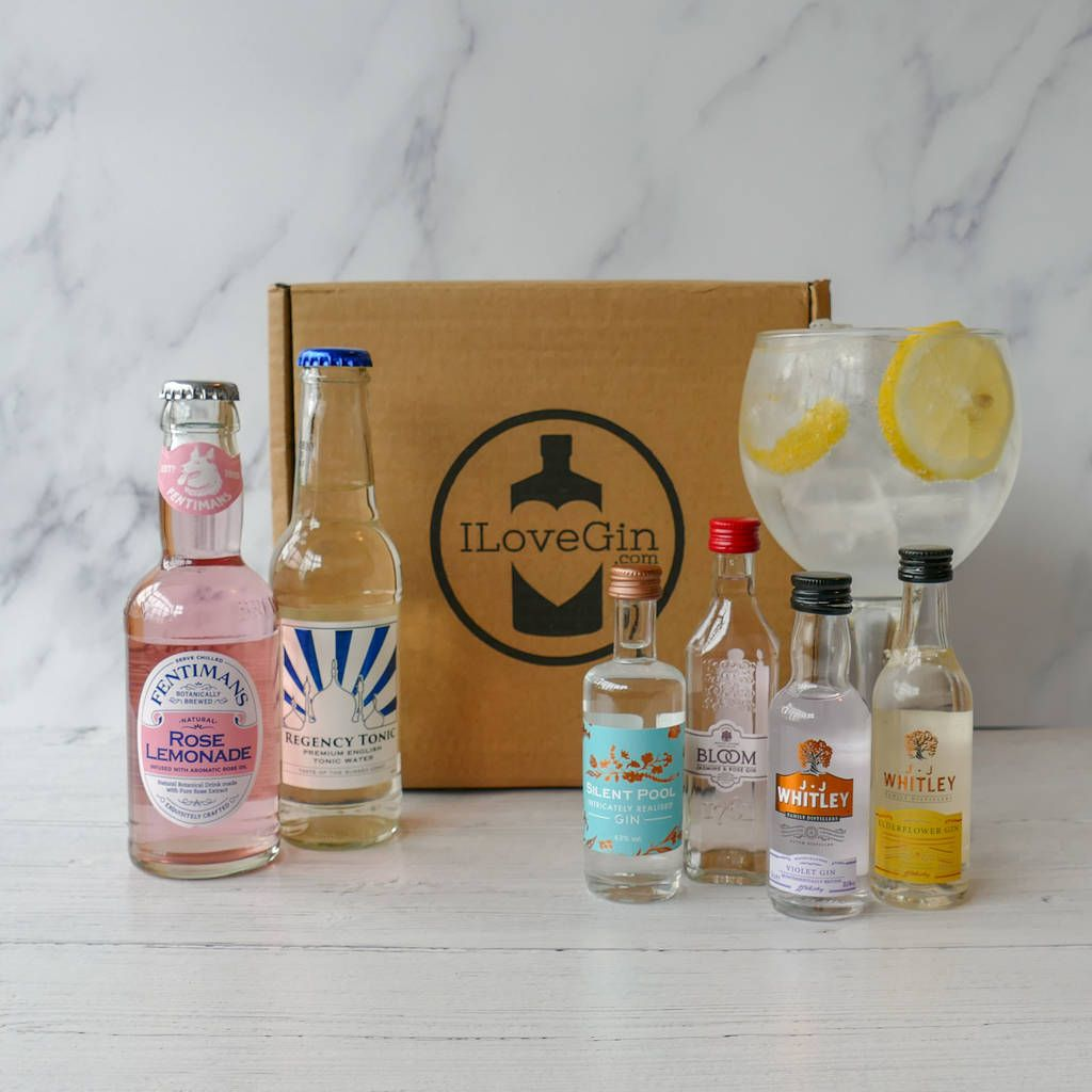 The Four Floral Gin And Tonics Gift Set Gin Tonic Gifts Gin