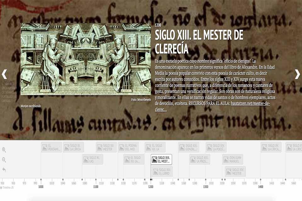 LÍNEA DEL TIEMPO SOBRE LITERATURA MEDIEVAL | Pinterest | Obras ...