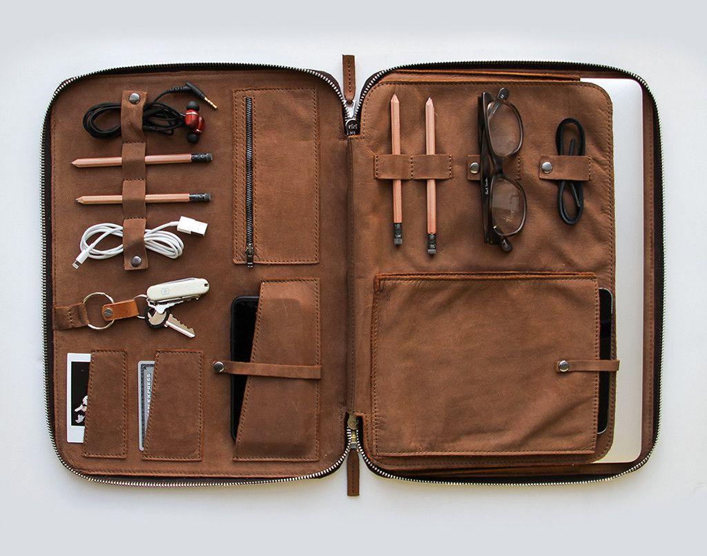 Mod Laptop Craft Edition Accesorios De Cuero Portafolio Hombre Carpeta De Cuero