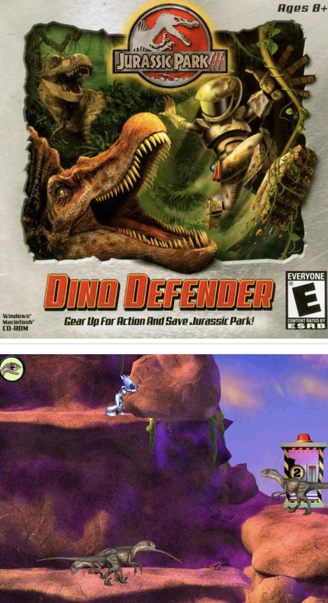 Jurassic Park III Dino Defender one of the worst puter games I