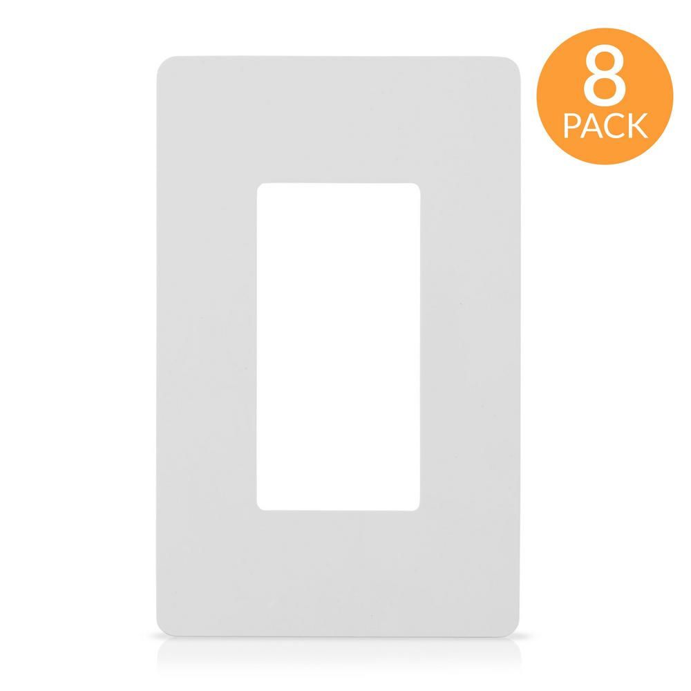 Faith 1-Gang Decorator Screwless Wall Plate, GFCI Outlet