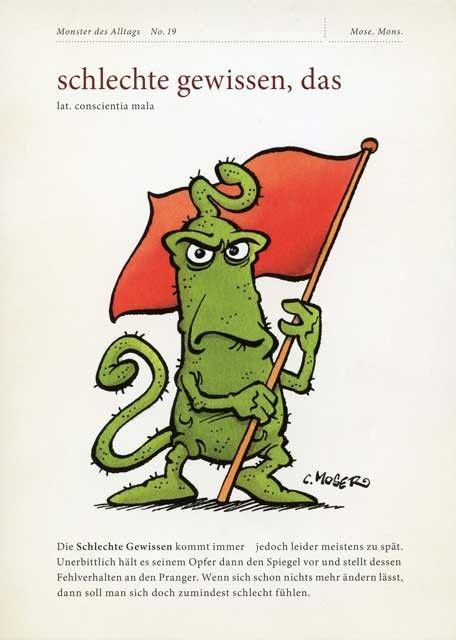 Postkarte mit lustigen Sprüchen - Monster des Alltags ...