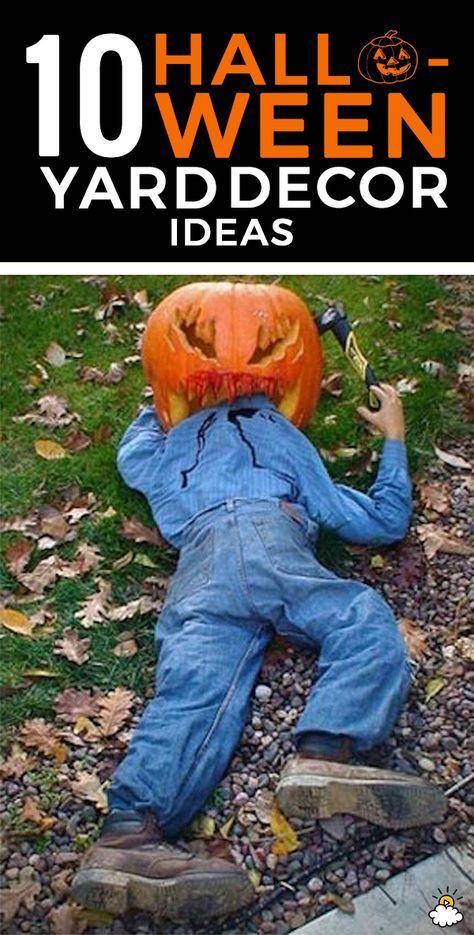 10 Spooky Halloween Yard Decor Ideas Halloween decorations