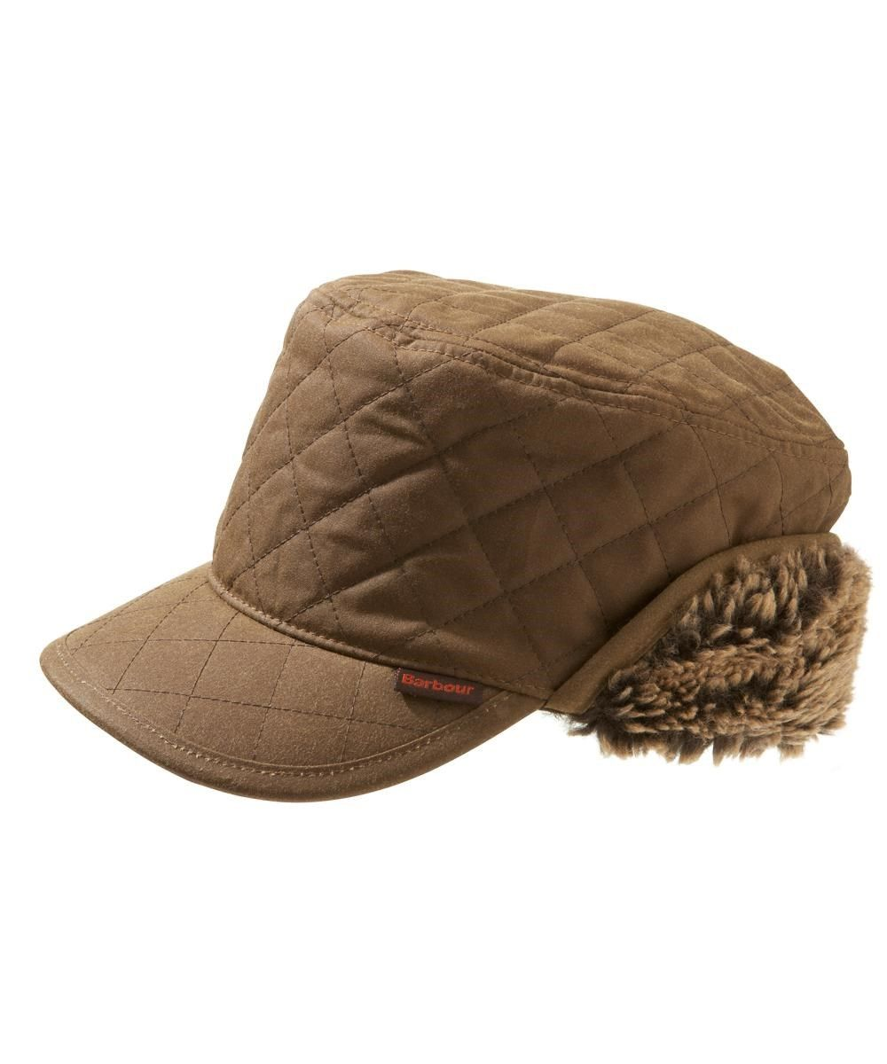 c6fb74237a0 Barbour Stanhope Mens Trapper Waxed Hat Sandstone. Also in Olive and Rustic.