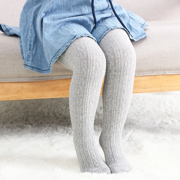 LANBAOSI Cute Baby Girls Knit Tights Infant Leggings Footed Stocking Pants