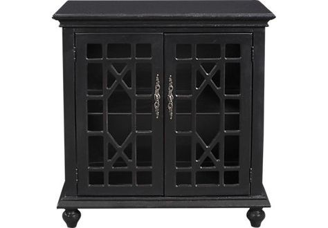 Best Swansboro Black Accent Cabinet Dining Room Office Home 400 x 300