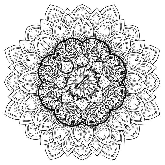 High quality mandala coloring pages free and printable ...