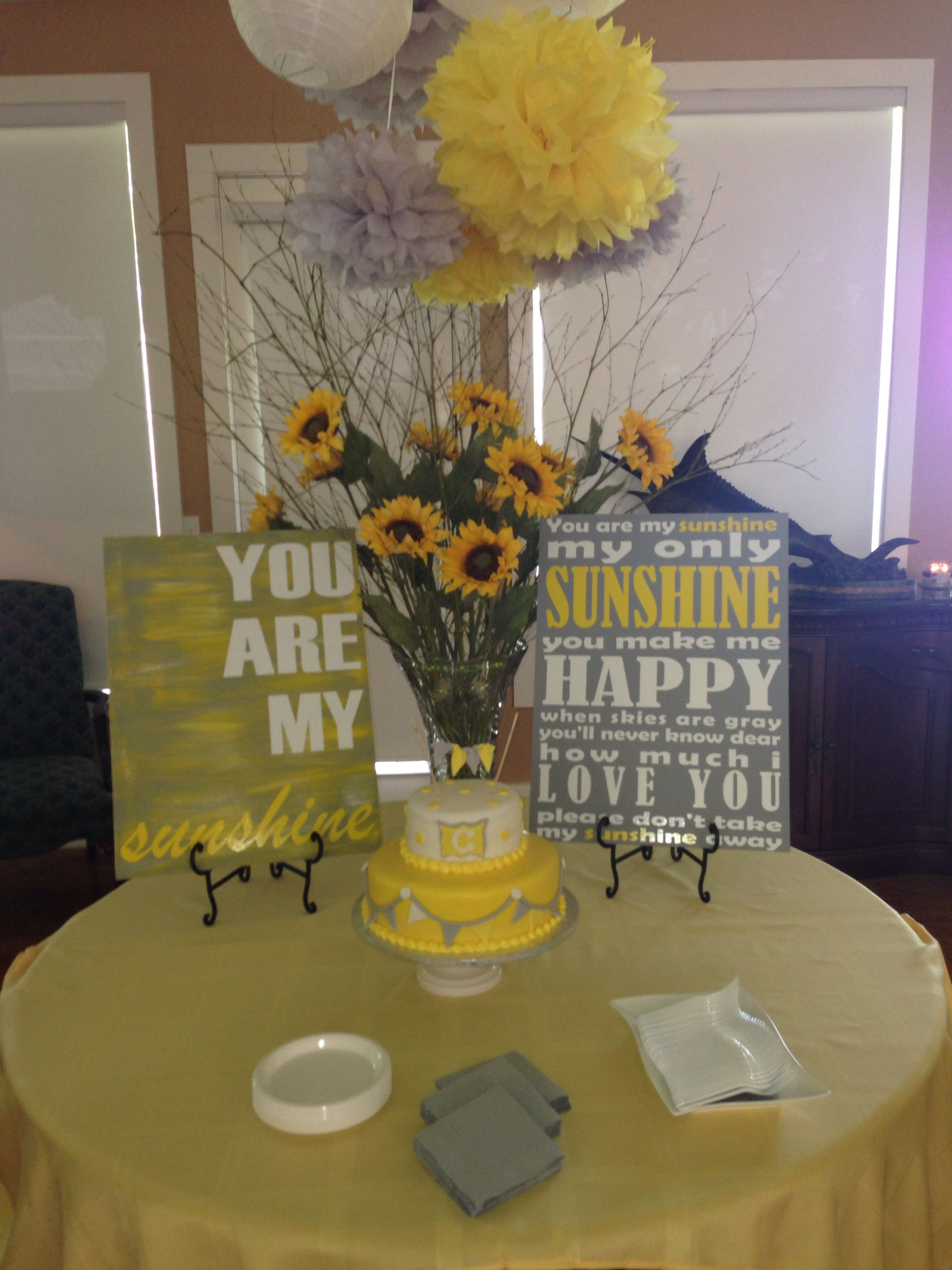 you are my sunshine baby shower party time pinterest sunshine