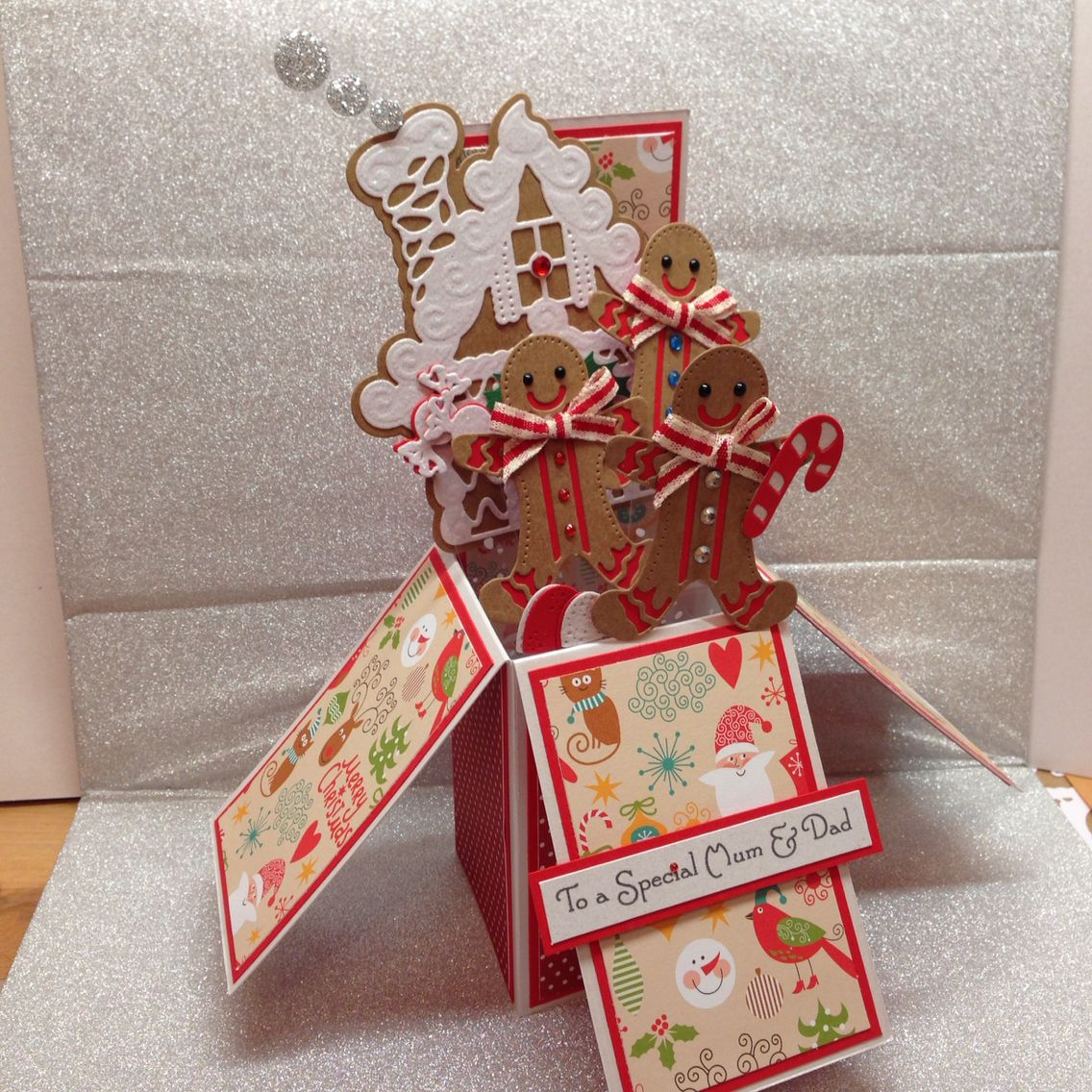 Gingerbread House Pop Up Card, Using Tonic Gingerbread Man