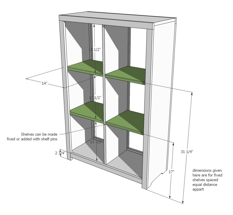 Wondrous Ana White Build A 6 Cubby Bookshelf Free And Easy Diy Home Remodeling Inspirations Cosmcuboardxyz