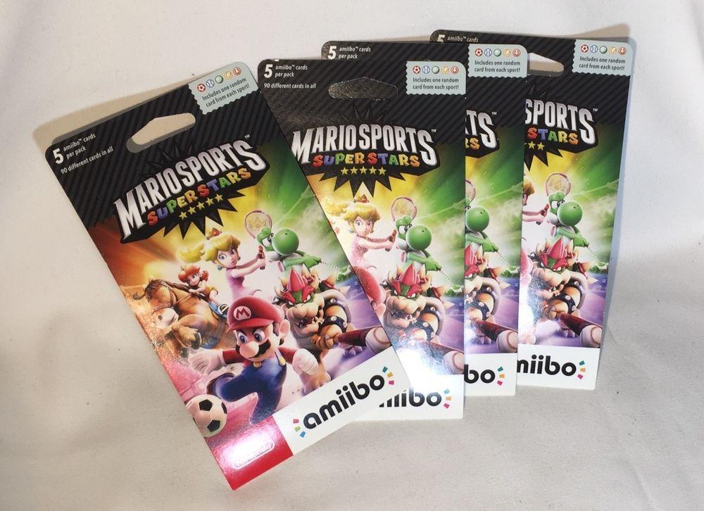 Mario Sports Superstars Amiibo Cards Nintendo 3DS Lot Of 4