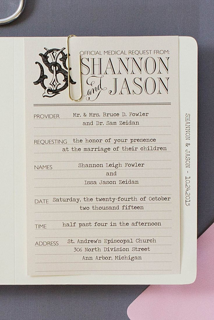 Medical Themed Wedding Invitations | Pinterest | Response cards ...