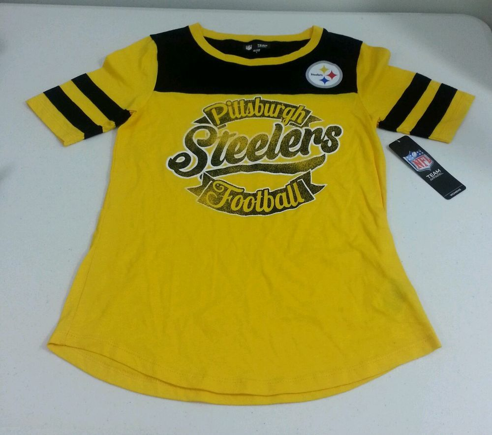 Pittsburgh Steelers Womens Yellow T Shirt Small Nwt NFL Team Apparel Yellow   NFLTeamApparel  PittsburghSteelers 74b8942ef