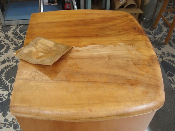 Restoring A Timber Veneer Nightstand By Wet Sanding With Miss Mustard Seed S Hemp Oil Restore Wood Hemp Oil Restoration