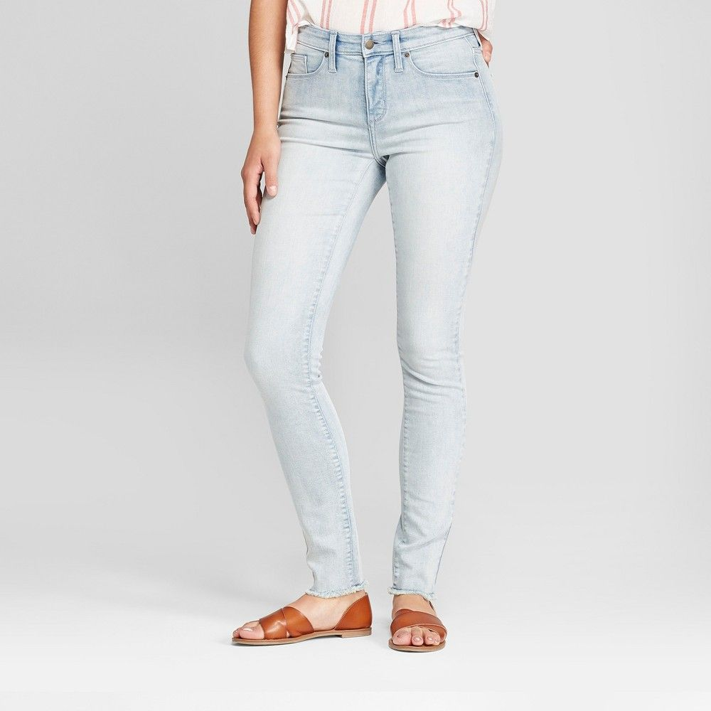 54030d3b9e4 Change up your casual looks with the High-Rise Button-Fly Skinny Jeans from  Universal Thread. Fitted through the hips and thighs these medium-wash  skinny ...