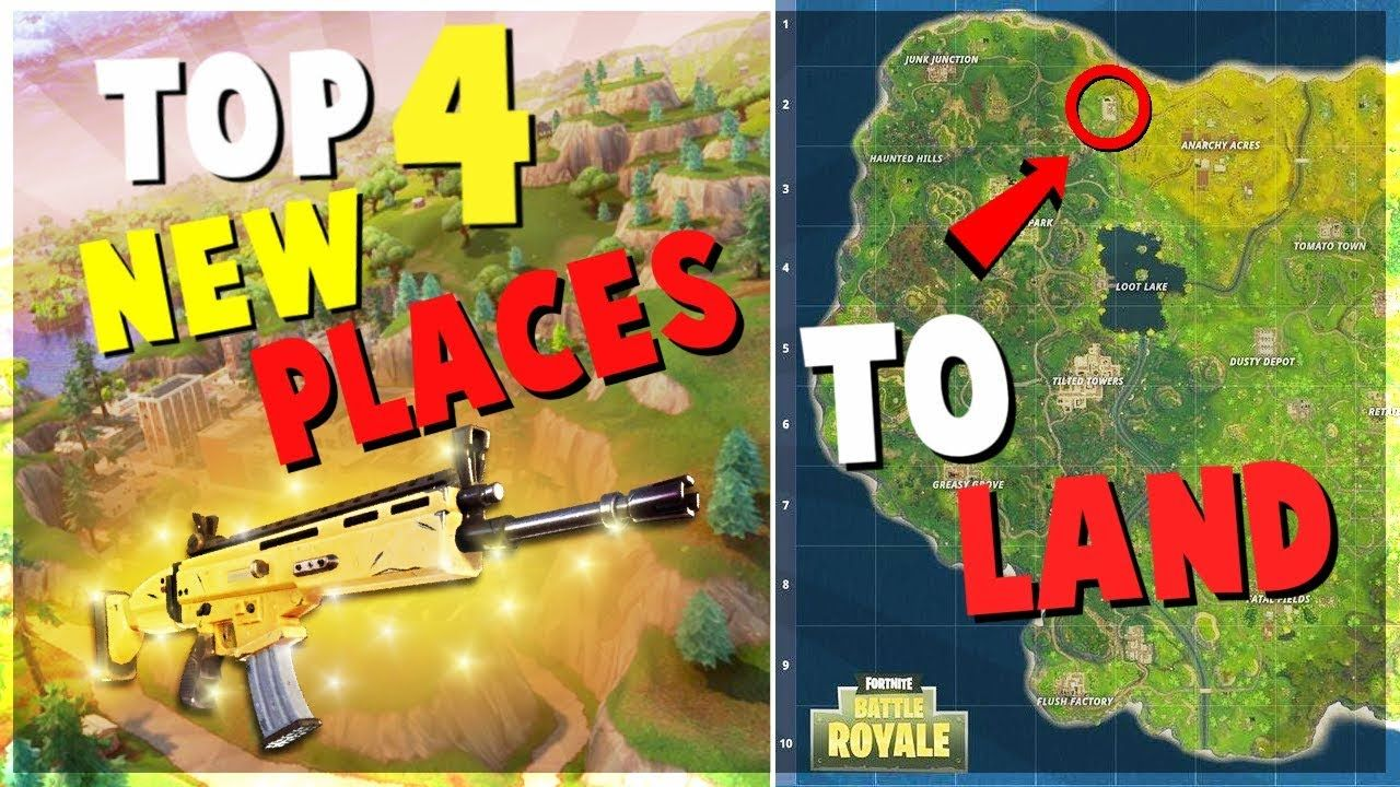 top 4 unknown new places to land for easy wins fortnite battle royale tips and tricks tips battleroyale - fortnite best spots to land
