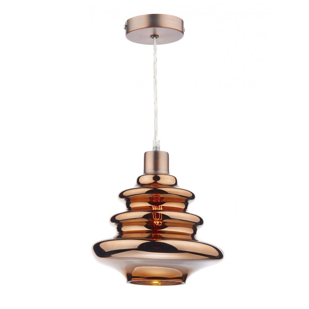Bathroom Lights Easy Fit dar lighting zephyr 1 light e27 glass lamp shade in copper (shade