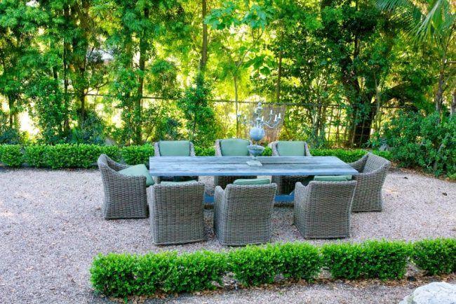 Gartengestaltung mit Kies - 93 Ideen mit Naturstein und Gräsern - garten mit grasern und kies