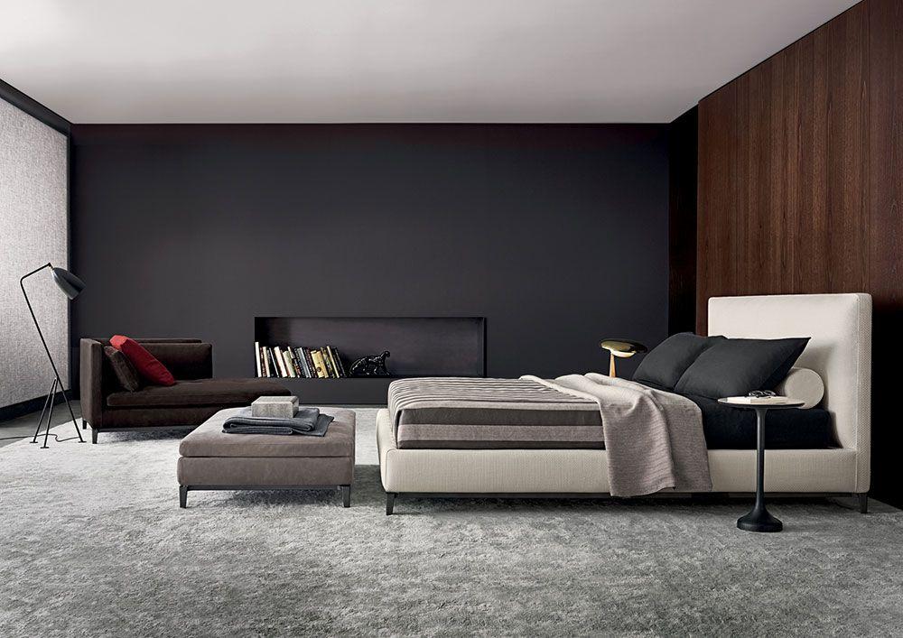 doppelbetten bett andersen von minotti furniture m bel pinterest schlafzimmer bett und. Black Bedroom Furniture Sets. Home Design Ideas