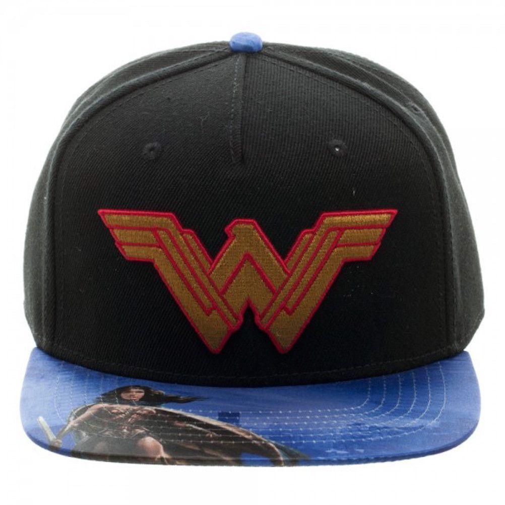 23e3357a77b Dawn of Justice Movie Wonder Woman Patch Flat Brim Baseball Cap Snapback Hat