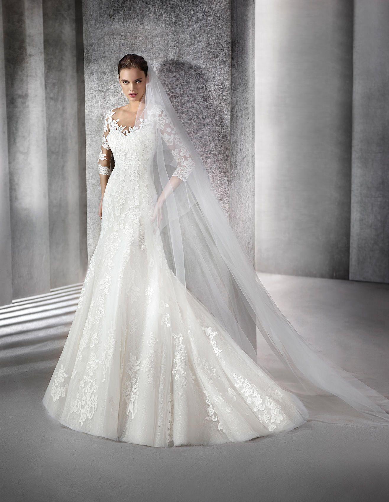 sitio web para descuento paquete elegante y resistente hacer un pedido ZURIEL - Vestido de novia de manga larga, hecho de encaje ...