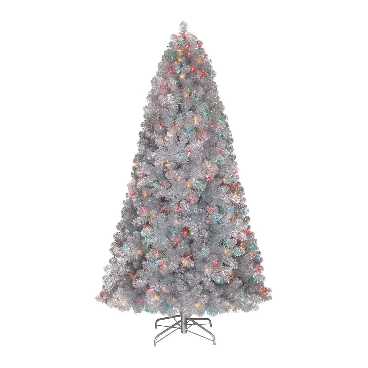 If You Need A Christmas Staple Without Sappy Needles To Clean Up Then An Alberta Spruce Pre Retro Christmas Tree Silver Christmas Tree Rotating Christmas Tree Pre lit rotating christmas tree