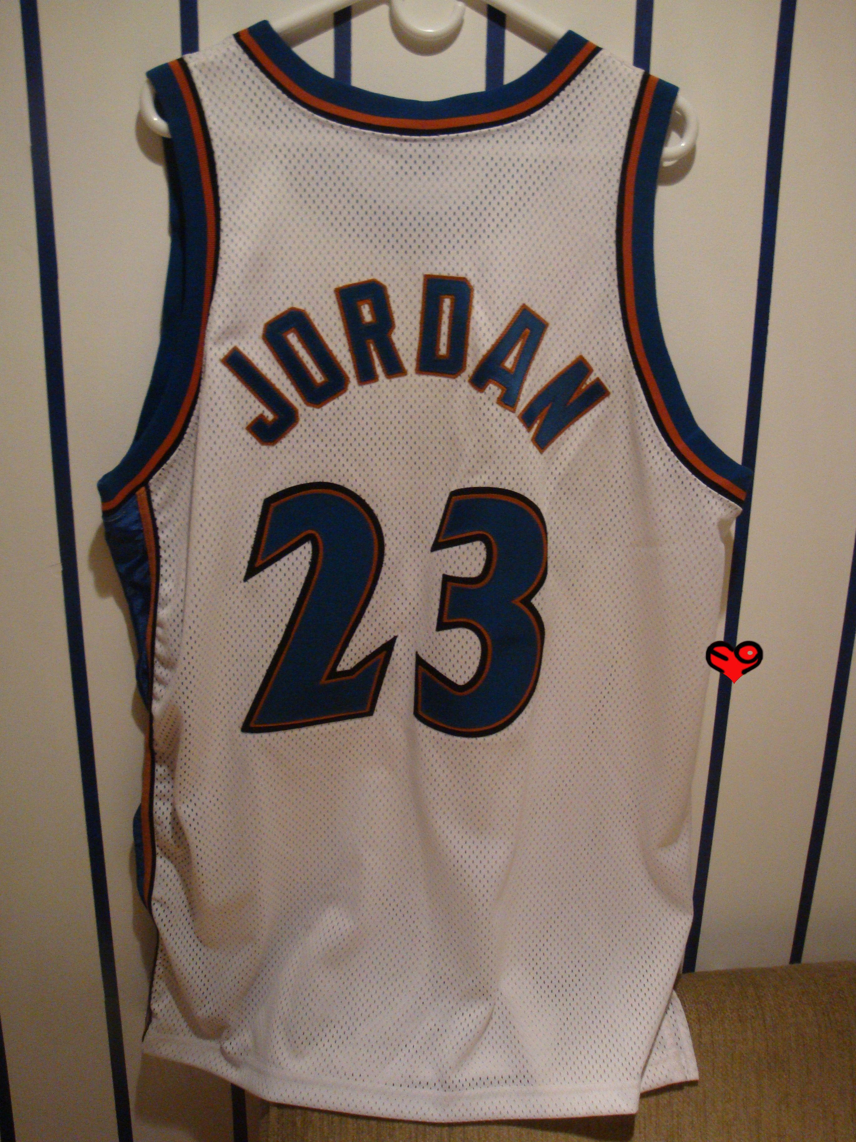 2002 jordan authentic nike wizards home jersey w911